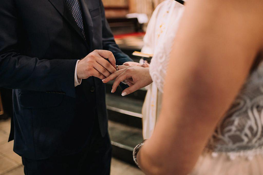 Przysięga małżeńska w Bazylice Franciszkanów w Krakowie